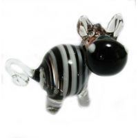 Glass Zebra Figurine
