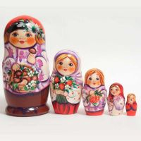 Matryoshka Boy with Mushrooms