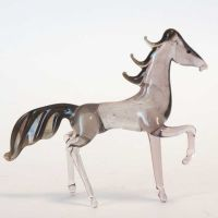 Horse glass figurine