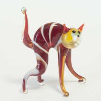 Glass Cat Figurine