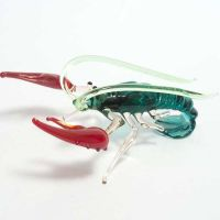 Glass Crayfish Figure