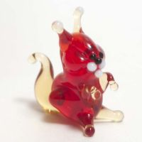 Squirrel glass figurine
