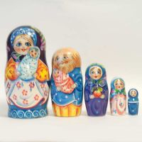 Matryoshka Family with Twins
