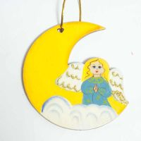 Figurine Angel on Moon