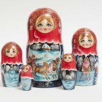 Matryoshka Doll Russian Winter Troyka