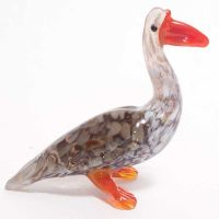 Glass Goose Figure