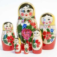 Nesting Doll Russian Girl, 6 p.