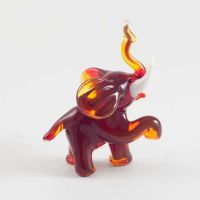 Blue Elephant Glass Figure