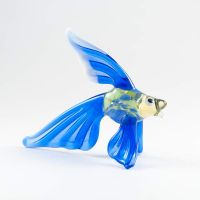Fish glass figurine