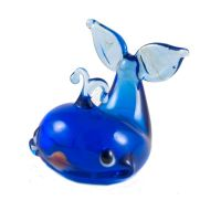 Whale glass figurine