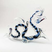Glass Dragon Figure