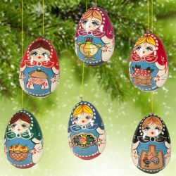 Ornaments Set Matryoshka Style