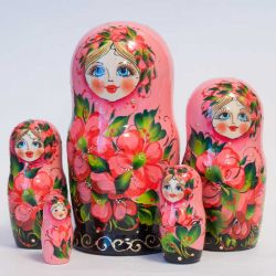 Matryoshka Pink with Poppies, fig. 1