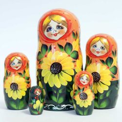 Matryoshka Doll Sunflowers, fig. 1