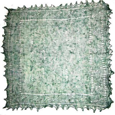 Green Orenburg shawl