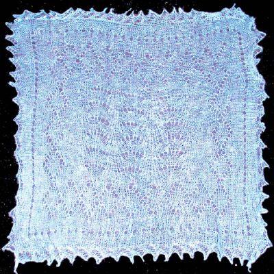 Turquoise Orenburg shawl hawl