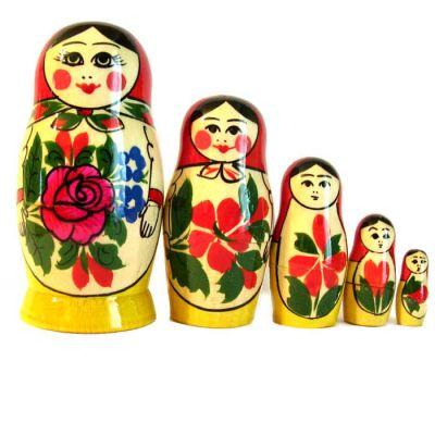 Matryoshka Russian Girl, 5 pieces, fig. 2