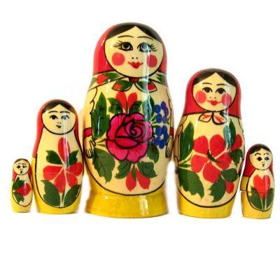 Matryoshka Russian Girl, 5 pieces, fig. 3