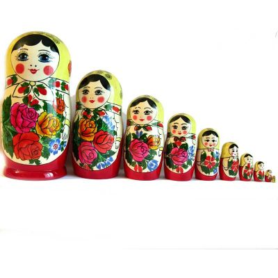 Nested Doll Russian Girl 10 pieces, fig. 7