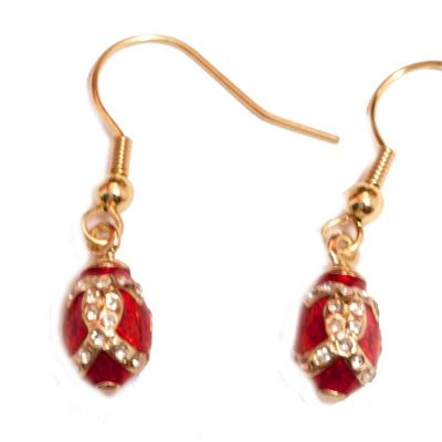 Faberge Earrings Red, fig. 4