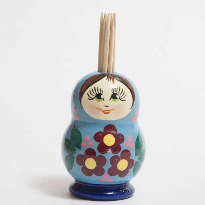 Toothpick Holder Blue, fig. 1