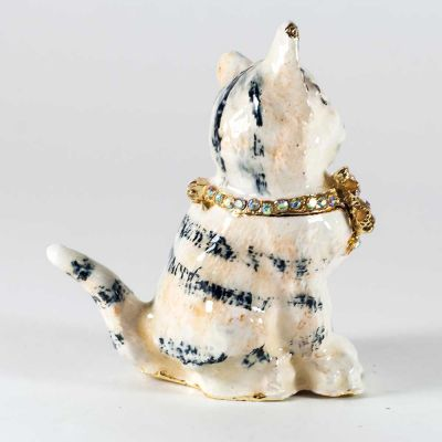 Faberge Box Cat with Bow, fig. 3