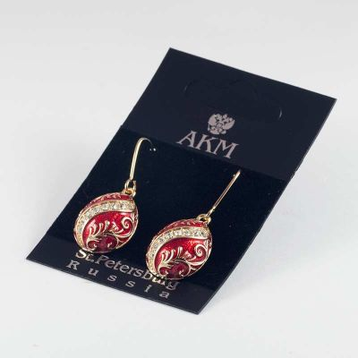 Earrings Wave on Red, fig. 4